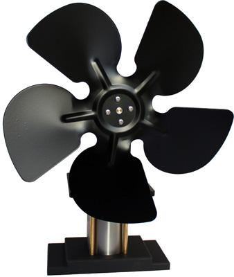 Stirling Engine on wood stove bigger fan -