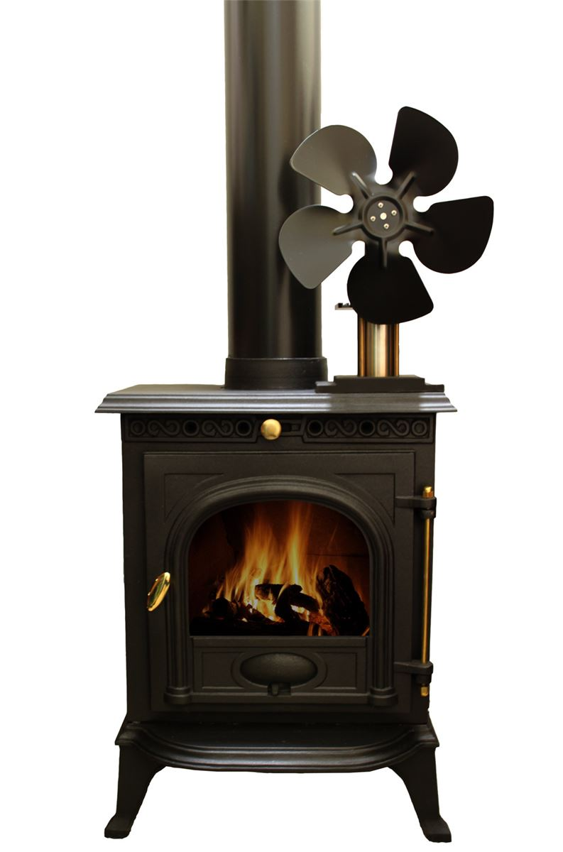 The Vulcan stove fan is a stirling engine powered fan that quietly and  efficiently circulates warm air from your wood stove, coal stove or other  heat source ... - Vulcan Stove Fan (Stirling Engine Powered) - From Gyroscope.com